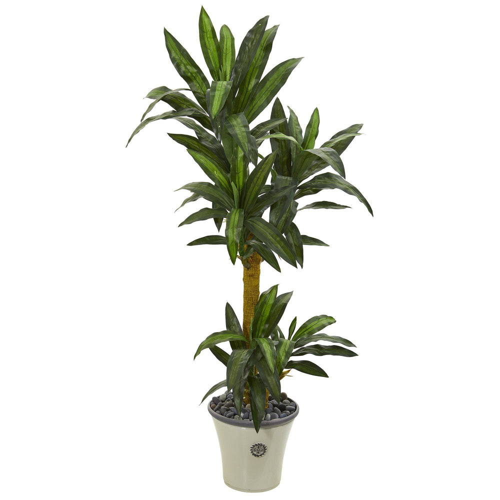 5' Yucca Artificial Plant in Decorative Planter