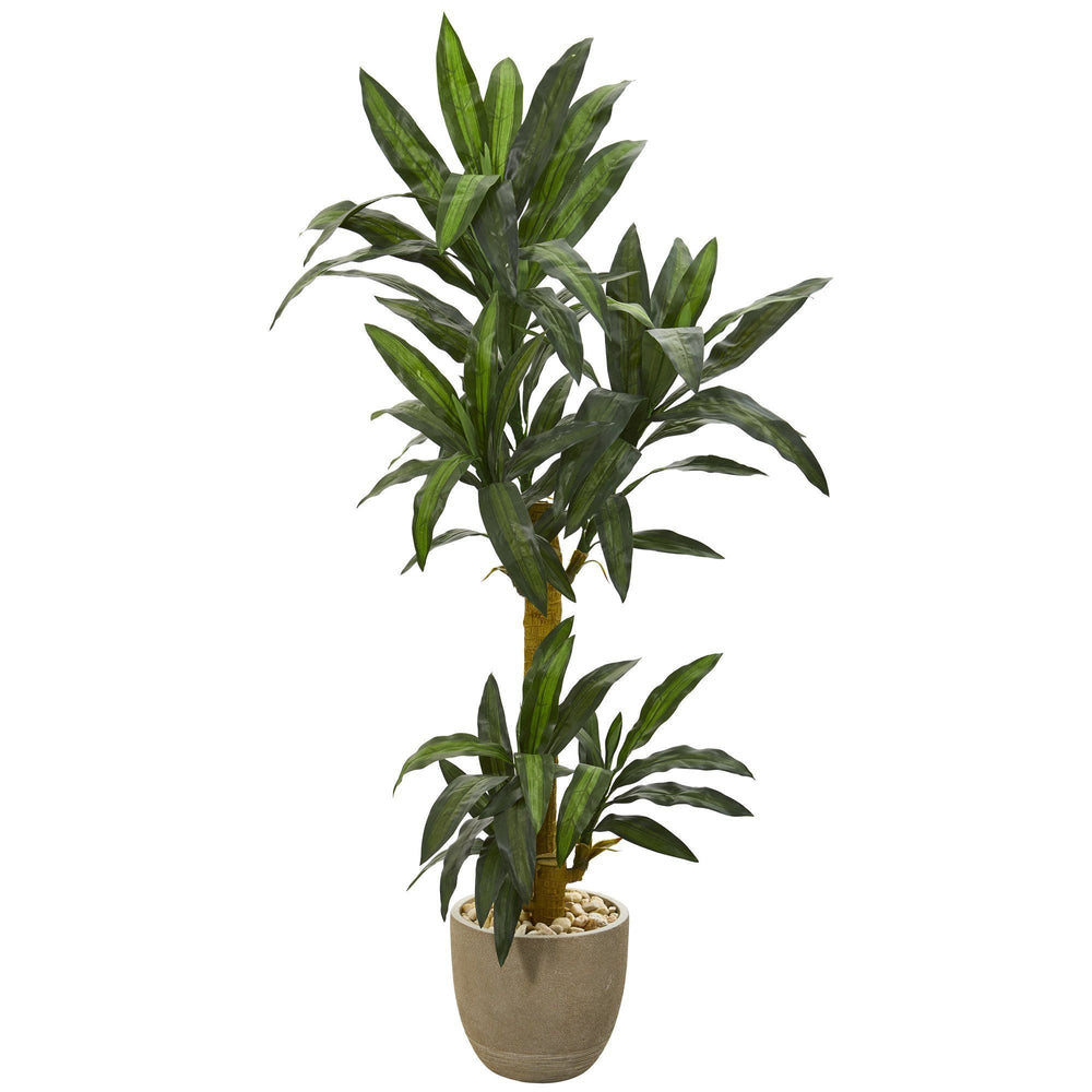 5' Yucca Artificial Plant in Sandstone Planter
