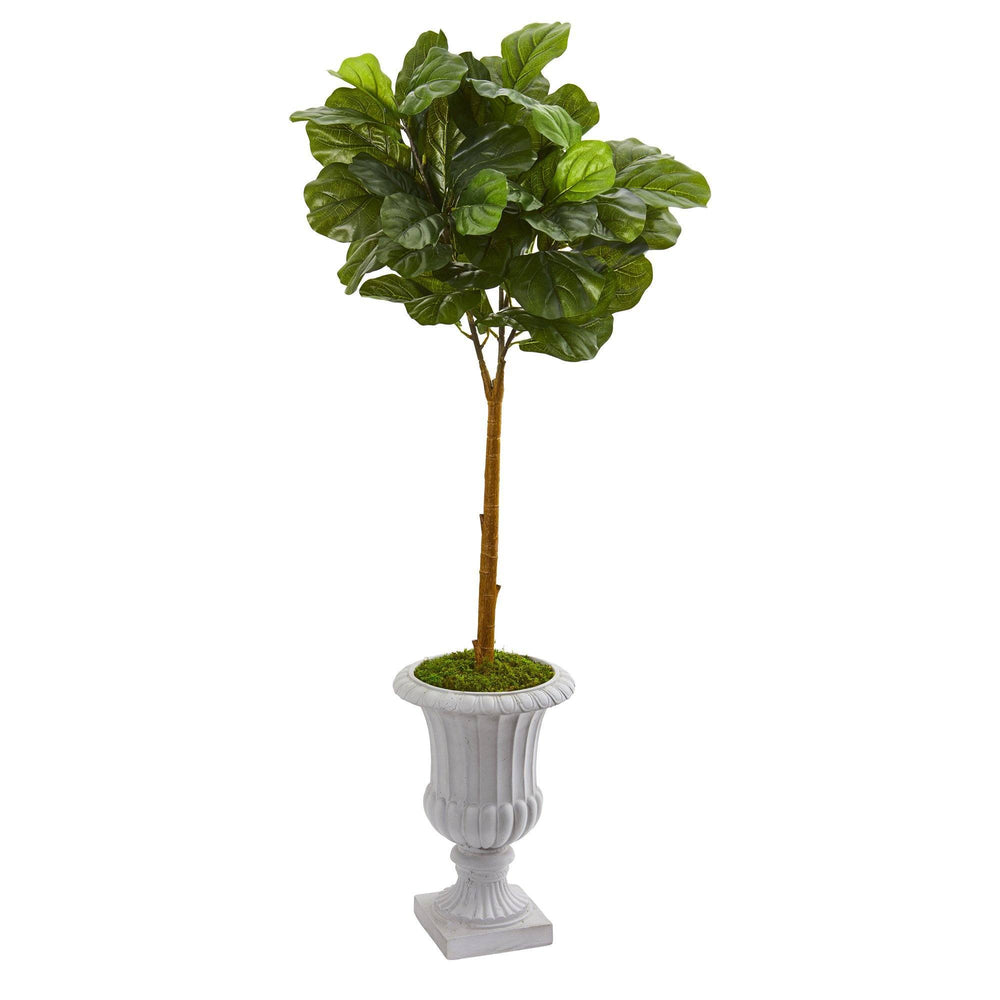 "50"" Fiddle Leaf Artificial Tree in Decorative Urn (Real Touch)"