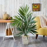 "50"" Kentia Artificial Palm Tree in Country White Planter"