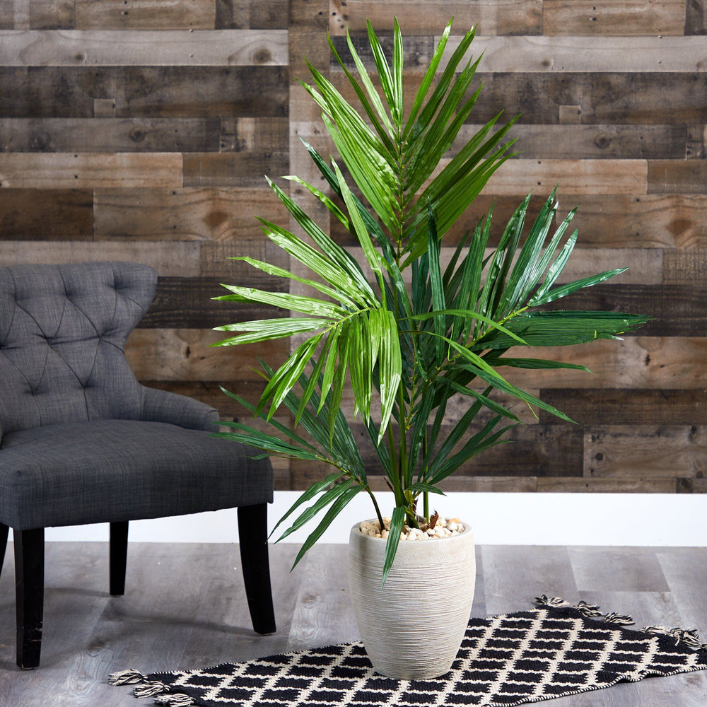 "50"" Kentia Artificial Palm Tree in Sand Colored Planter"