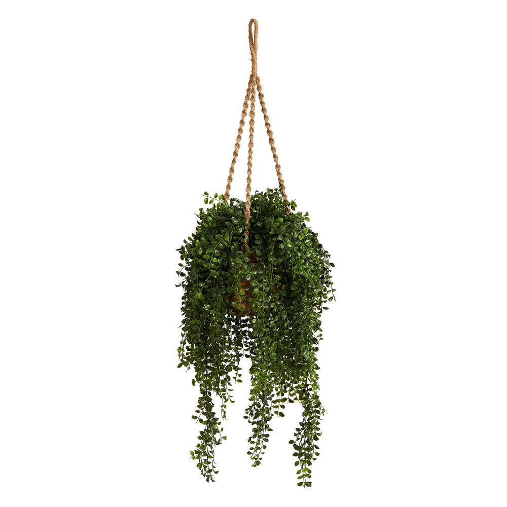 "51"" Gleditsia Artificial Plant in Hanging Basket UV Resistant (Indoor/Outdoor)"