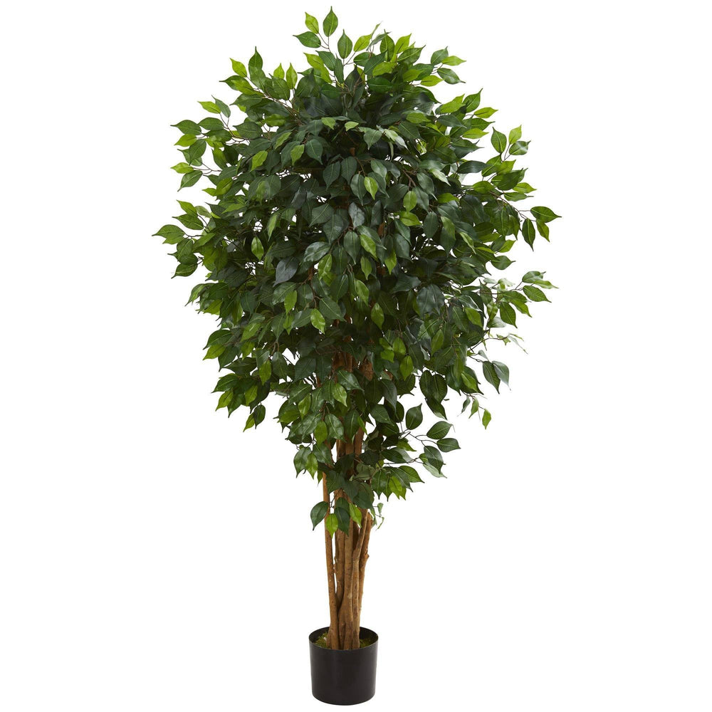 5.5' Artificial Ficus Tree Bunched Trunks