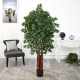 5.5' Lychee Artificial Tree with Natural Trunk