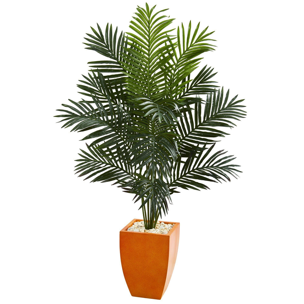 5.5' Paradise Artificial Palm Tree in Orange Planter