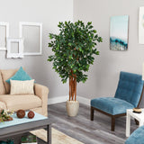 5.5' Sakaki Artificial Tree with 1470 Bendable Branches in Sand Colored Planter