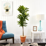 "57"" Dracaena Artificial Plant in Terra-Cotta Planter (Real Touch)"