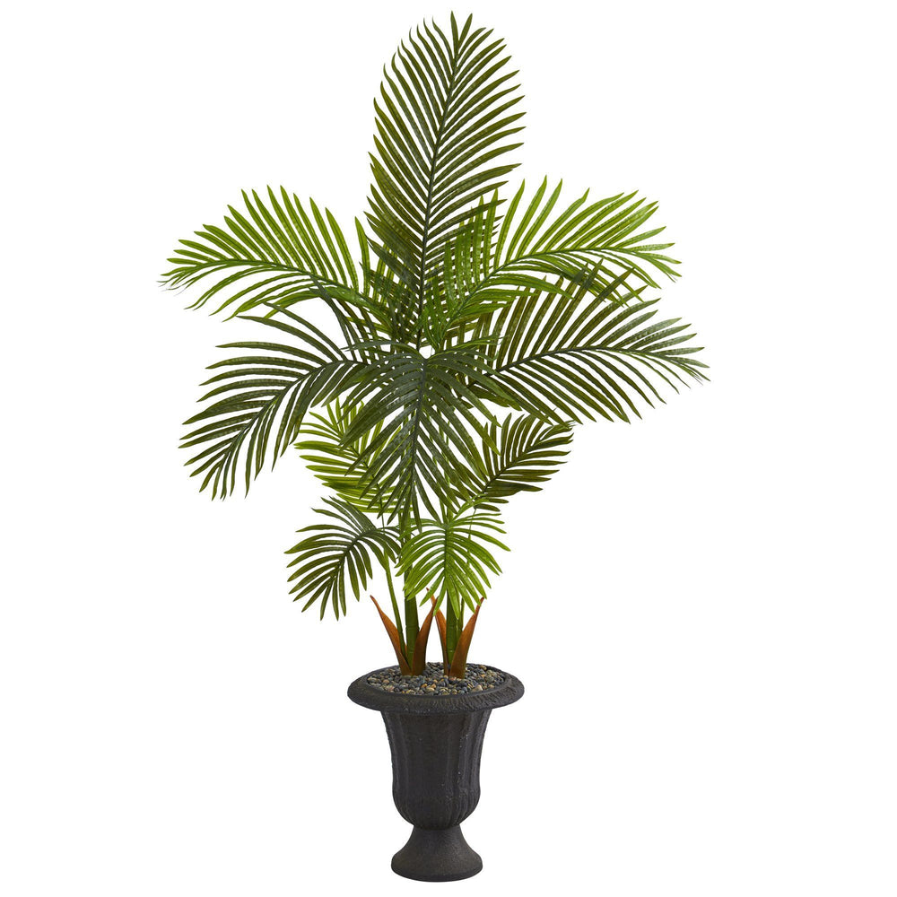 "59"" Areca Palm Artificial Tree in Charcoal Urn"