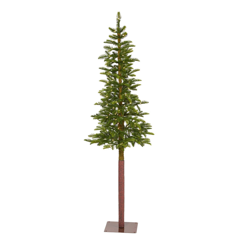 6' Alaskan Alpine Artificial Christmas Tree with 100 Clear Microdot (Multifunction) LED Lights and 112 Bendable Branches
