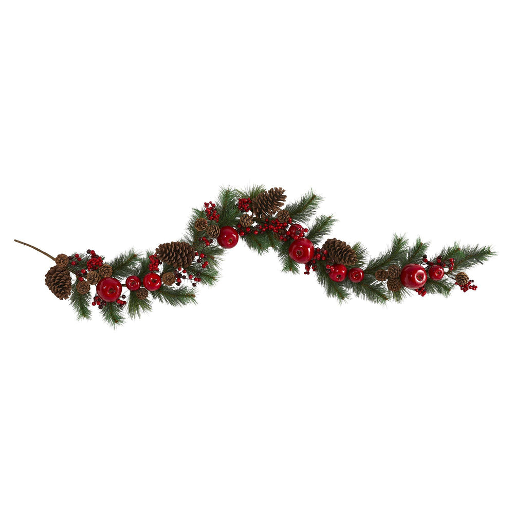 6' Apple, Berries and Pinecone Artificial Garland