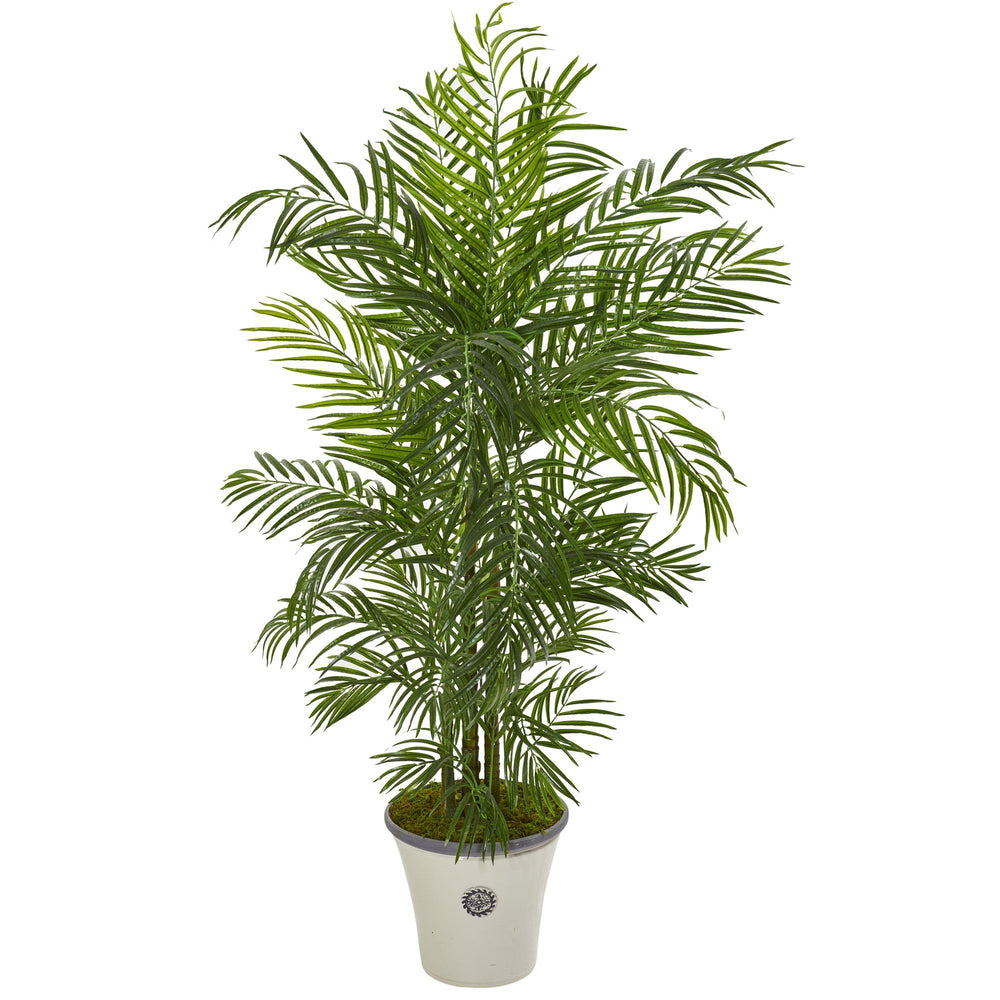 6' Areca Palm Artificial Tree in Planter UV Resistant (Indoor/Outdoor)
