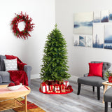 "6' Belgium Fir ""Natural Look"" Artificial Christmas Tree with 300 Clear LED Lights"