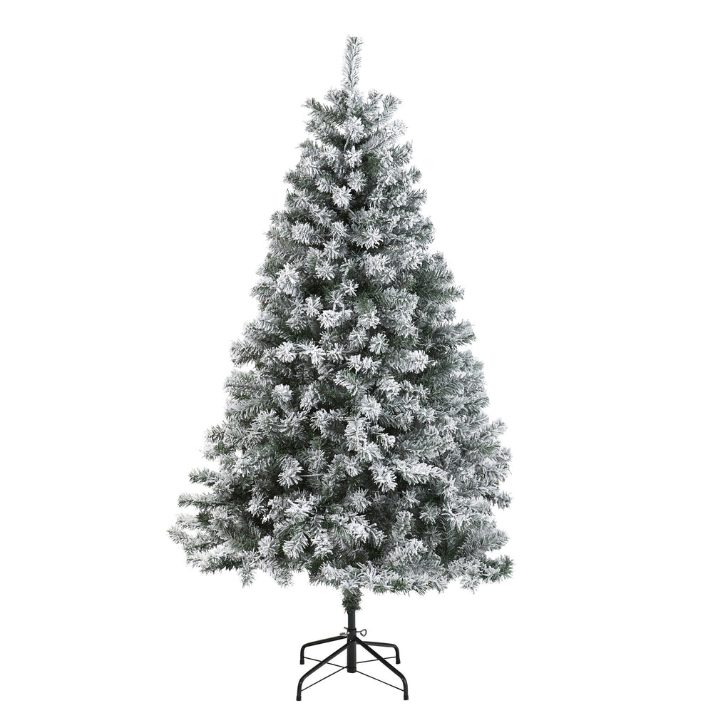 6' Flocked Rock Springs Spruce Artificial Christmas Tree