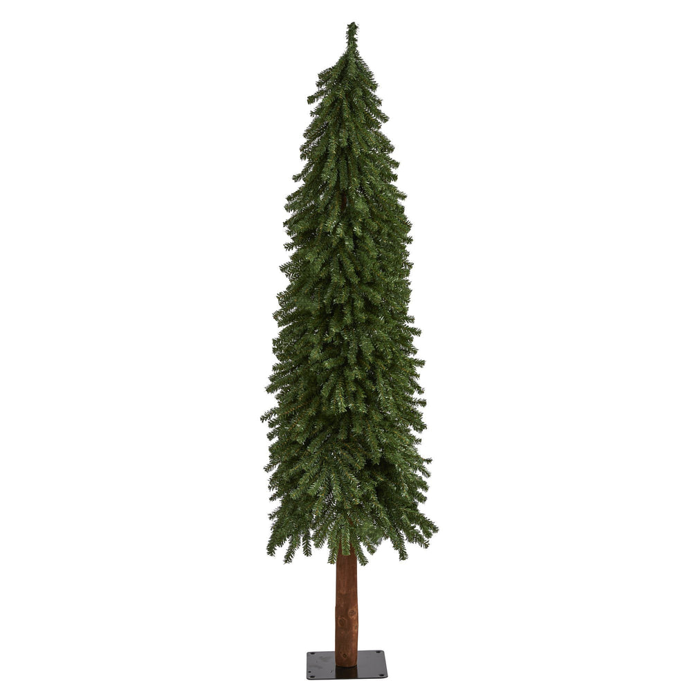 6' Grand Alpine Artificial Christmas Tree with 601 Bendable Branches on Natural Trunk