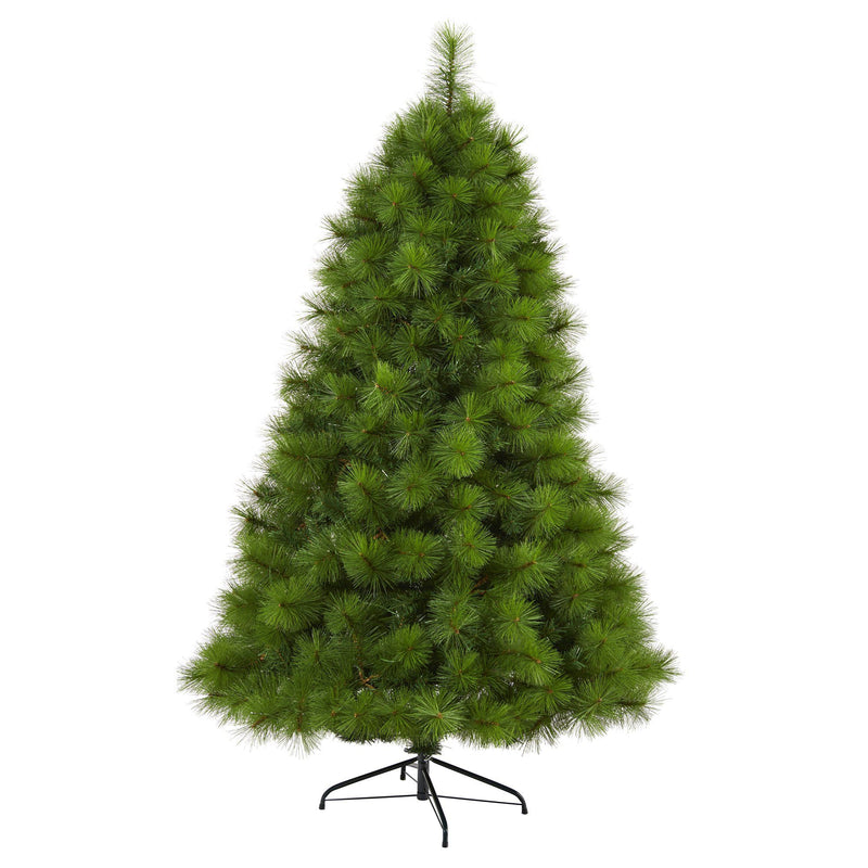 6' Green Scotch Pine Artificial Christmas Tree with 300 Clear LED Lights