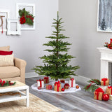 6' Layered Washington Spruce Artificial Christmas Tree with 350 Clear Lights and 705 Branches