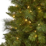 6' Mount Hood Spruce Artificial Christmas Tree with 300 Warm White Lights and 673 Bendable Branches