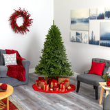 "6' Sierra Spruce ""Natural Look"" Artificial Christmas Tree with 300 Clear LED Lights and 1357 Bendable Branches"