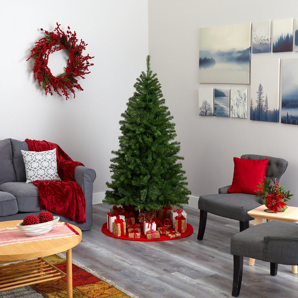 6' Springfield Artificial Christmas Tree with 300 Warm Clear Lights and 596 Tips