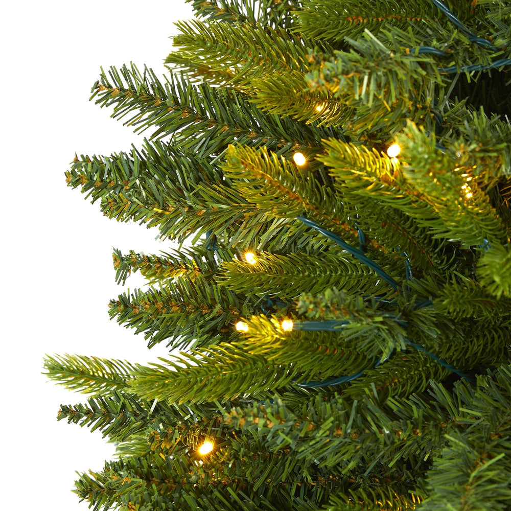 6 Sun Valley Fir Artificial Christmas Tree With 300 Clear Led Lights Nearly Natural