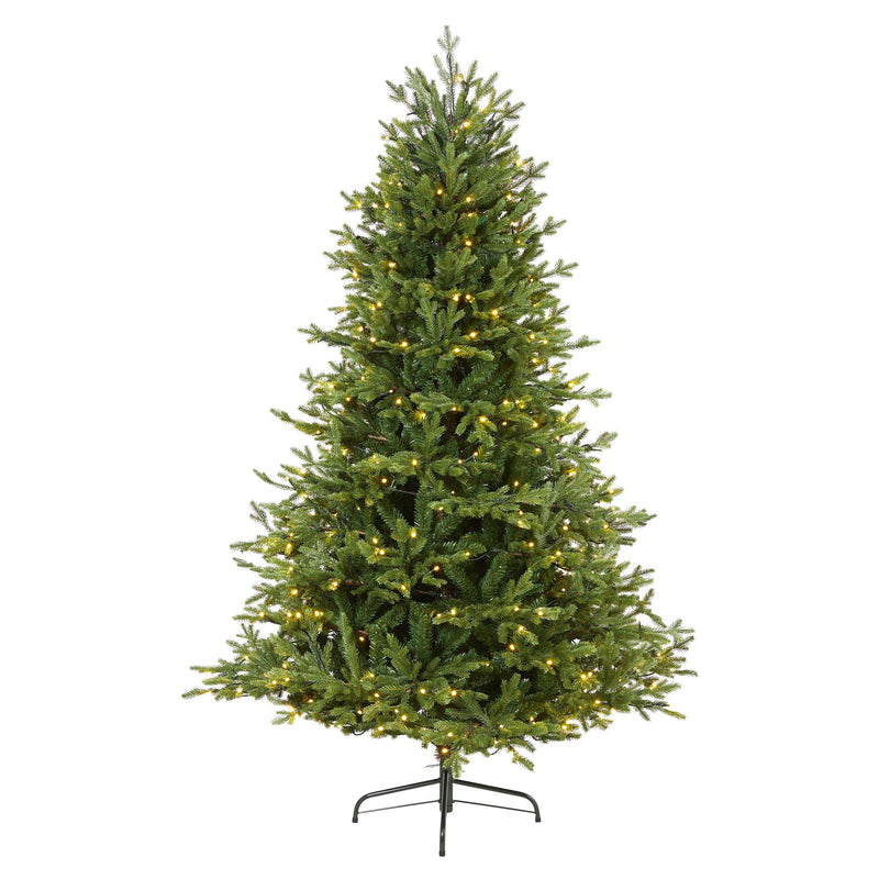 6' Wyoming Spruce Artificial Christmas Tree with 400 Clear LED Lights and 1045 Bendable Branches