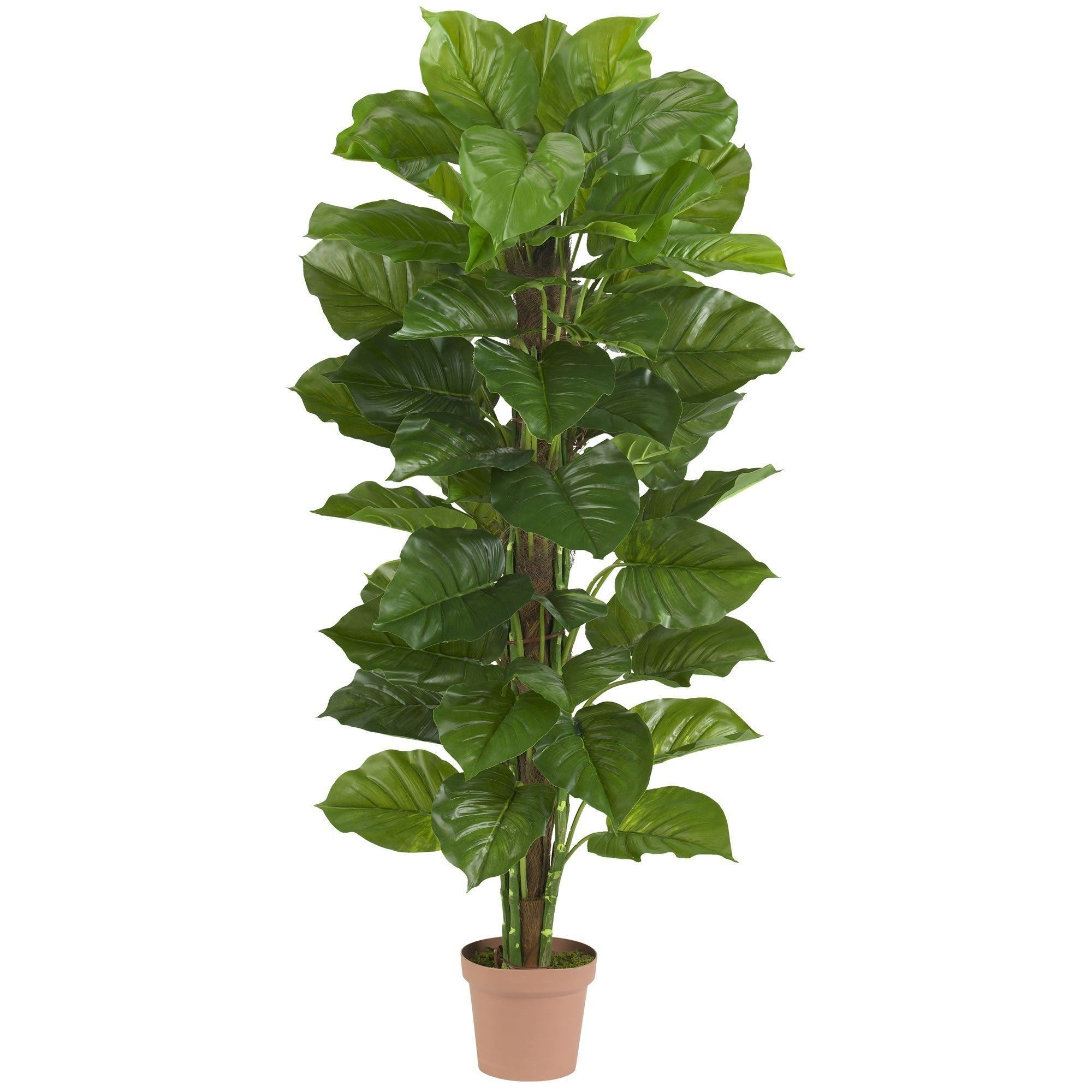 63 Large Leaf Philodendron Artificial Plant Real Touch Nearly Natural