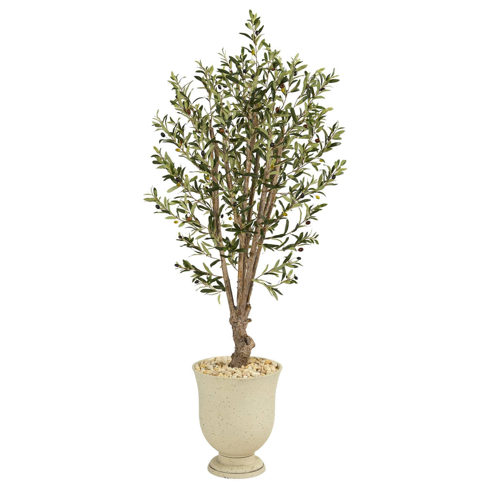 "64"" Olive Artificial Tree in Decorative Urn"
