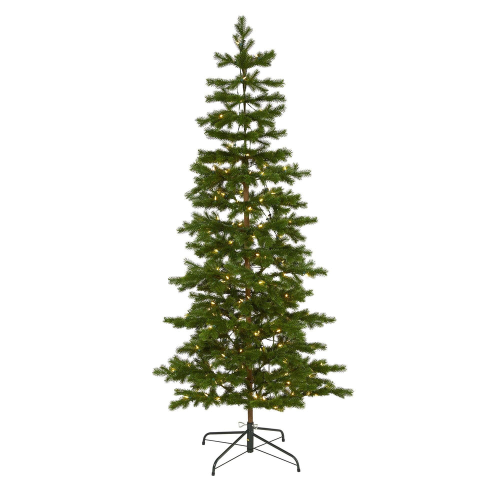 6.5' Big Sky Spruce Artificial Christmas Tree with 200 Clear Warm (Multifunction) LED Lights and 265 Bendable Branches