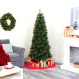 6.5' Cashmere Slim Artificial Christmas Tree with 350 Warm White Lights and 660 Bendable Branches