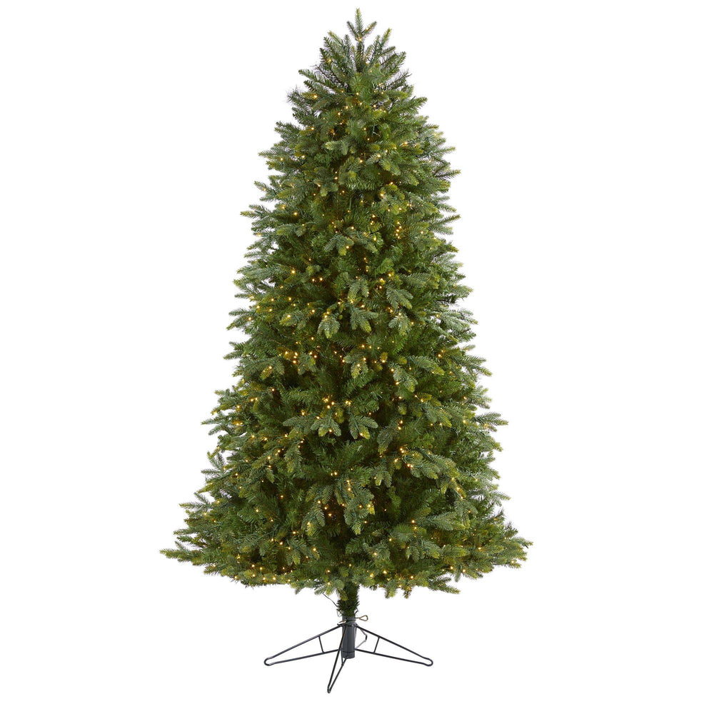 6.5' Oregon Fir Artificial Christmas Tree with 1350 Warm White Micro (Multifunction) LED Lights with Remote Control, Instant Connect Technology and 1218 Bendable Branches
