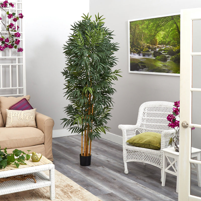 6.5' Phoenix Palm Artificial tree with Natural Trunk