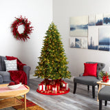 6.5' Washington Fir Artificial Christmas Tree with 400 Clear Lights and 1110 Bendable Branches