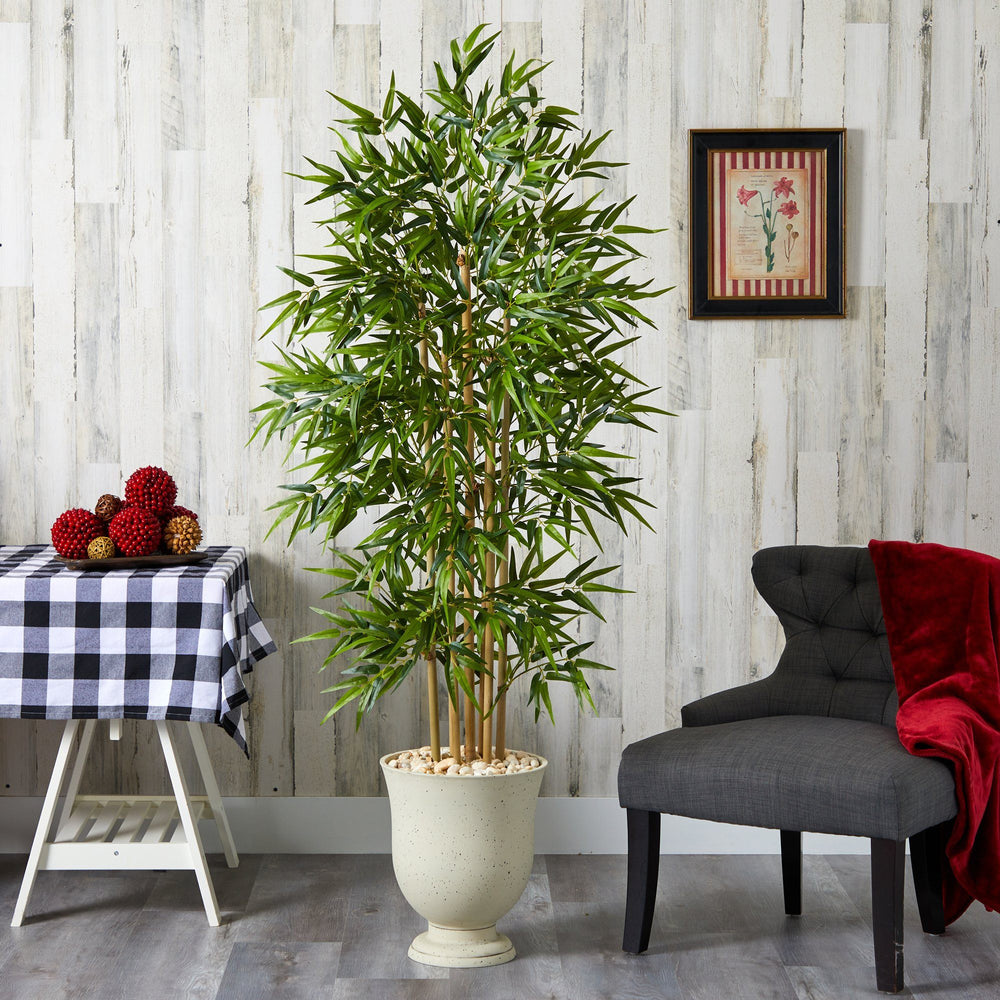 "68"" Bamboo Artificial Tree in Decorative Urn"