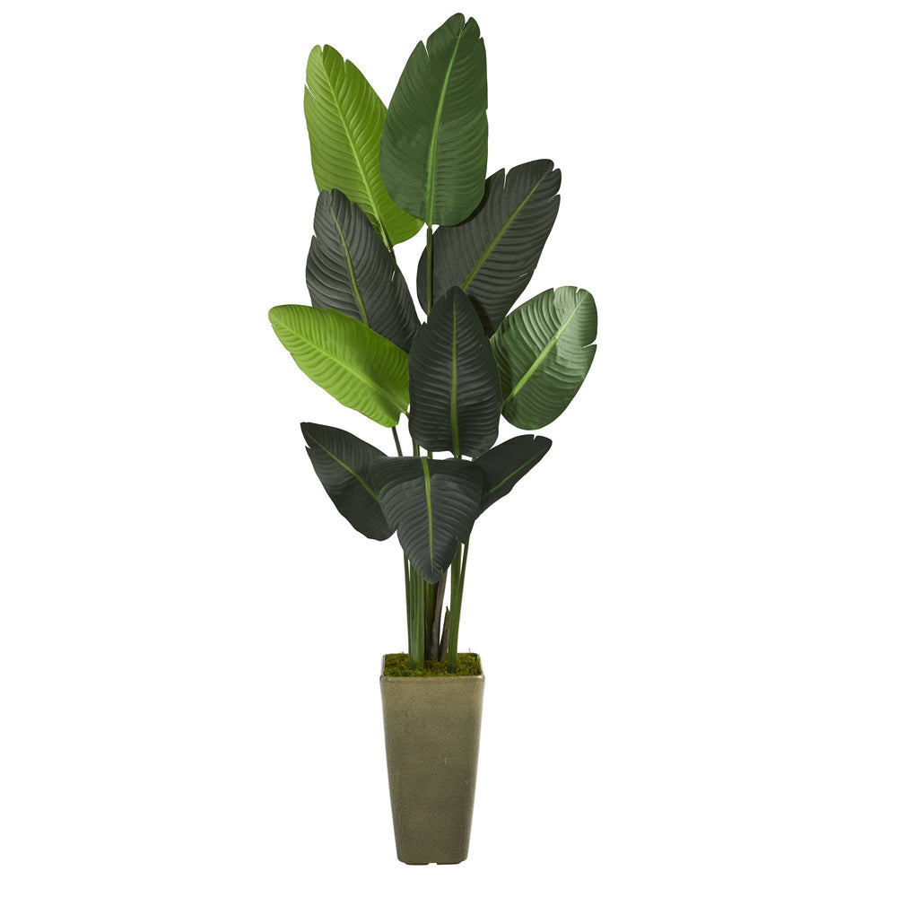 "69"" Traveler's Palm Artificial tree in Green Planter"