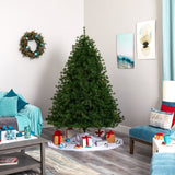 7' Colorado Mountain Pine Artificial Christmas Tree with 450 Clear Lights, 1453 Bendable Branches and Pine Cones