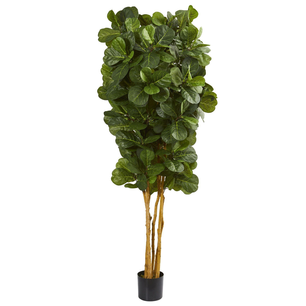 7' Fiddle Leaf Fig Artificial Tree Beige Trunk