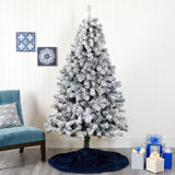 7' Flocked West Virginia Fir Artificial Christmas Tree
