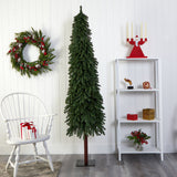 7' Grand Alpine Artificial Christmas Tree with 950 Bendable Branches on Natural Trunk