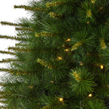 7' New England Pine Artificial Christmas Tree with 400 Clear Lights and 1044 Bendable Branches