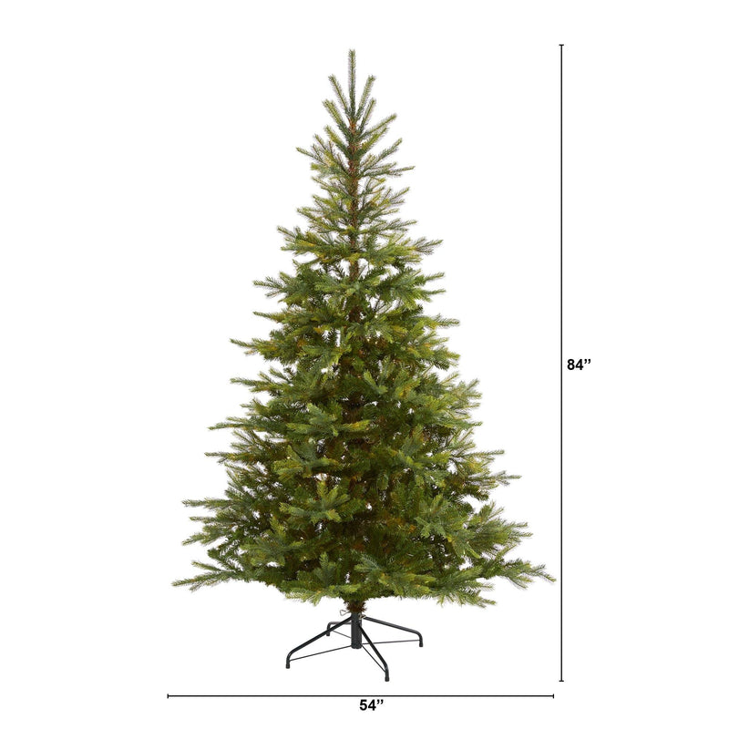 7' North Carolina Spruce Artificial Christmas Tree with 931 Bendable Branches