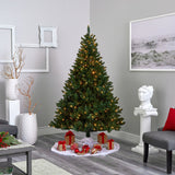 7' Northern Rocky Spruce Artificial Christmas Tree with 400 Clear Lights and 1330 Bendable Branches