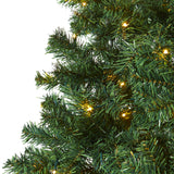 7' Northern Tip Pine Artificial Christmas Tree with 350 Clear LED Lights