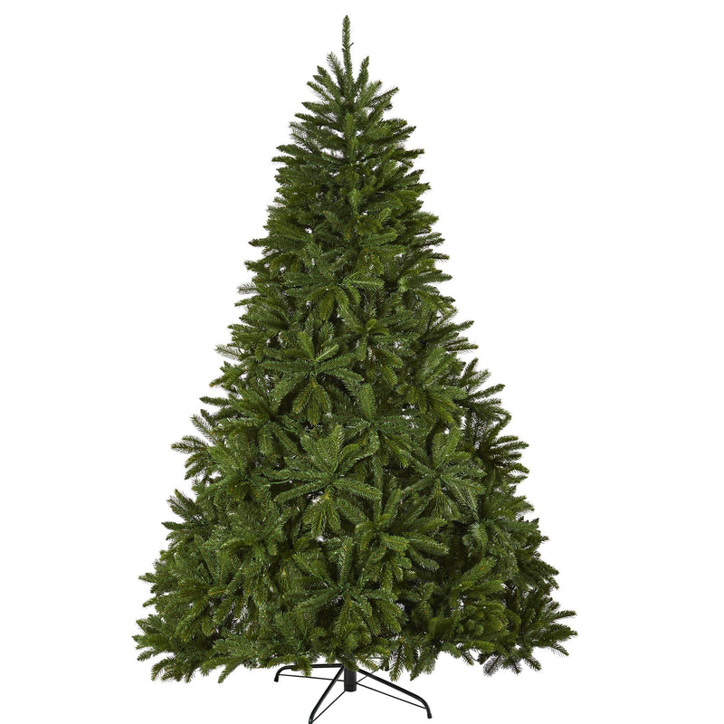 "7' Sierra Spruce ""Natural Look"" Artificial Christmas Tree with 500 Clear LED Lights and 2213 Tips"