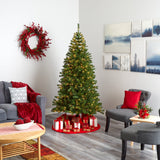 7' Springfield Artificial Christmas Tree with 400 Warm Clear Lights and 916 Bendable Branches