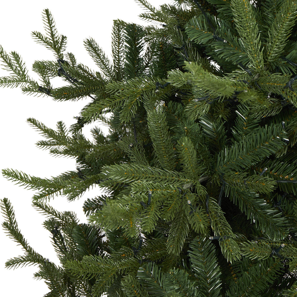 7' Swedish Fir Artificial Christmas Tree with 500 Warm White LED Lights and 1291 Bendable Branches