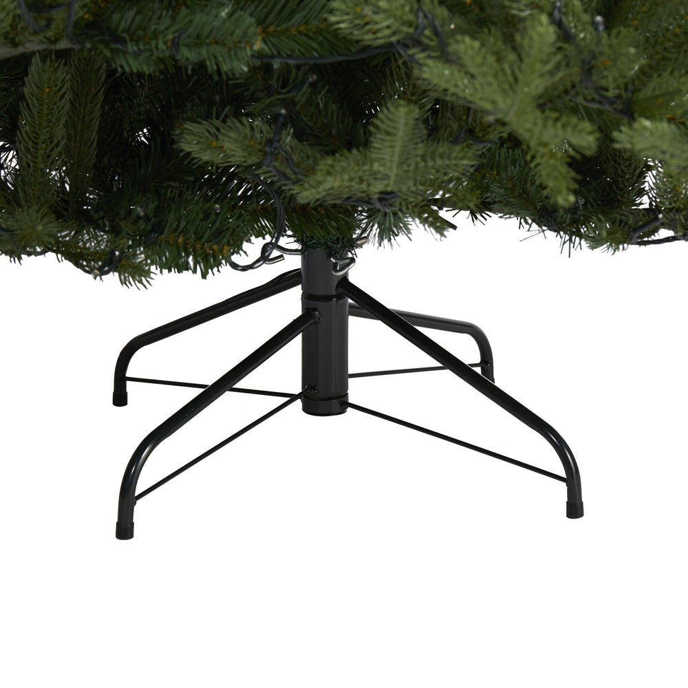 7 Swedish Fir Artificial Christmas Tree With 500 Warm White Led Lights And 1291 Bendable Branches Nearly Natural