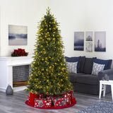 "7' Vancouver Fir ""Natural Look"" Artificial Christmas Tree with 500 Clear LED Lights and 2542 Bendable Branches"
