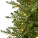 7' Vienna Fir Artificial Christmas Tree with 450 Warm White Lights and 843 Bendable Branches