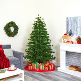 7' Yukon Mixed Pine Artificial Christmas Tree with 1104 Bendable Branches