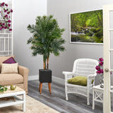 "70"" Areca Palm Artificial Tree in Black Planter with Stand"